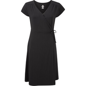 Sherpa Padma Wrap Dress Women, black